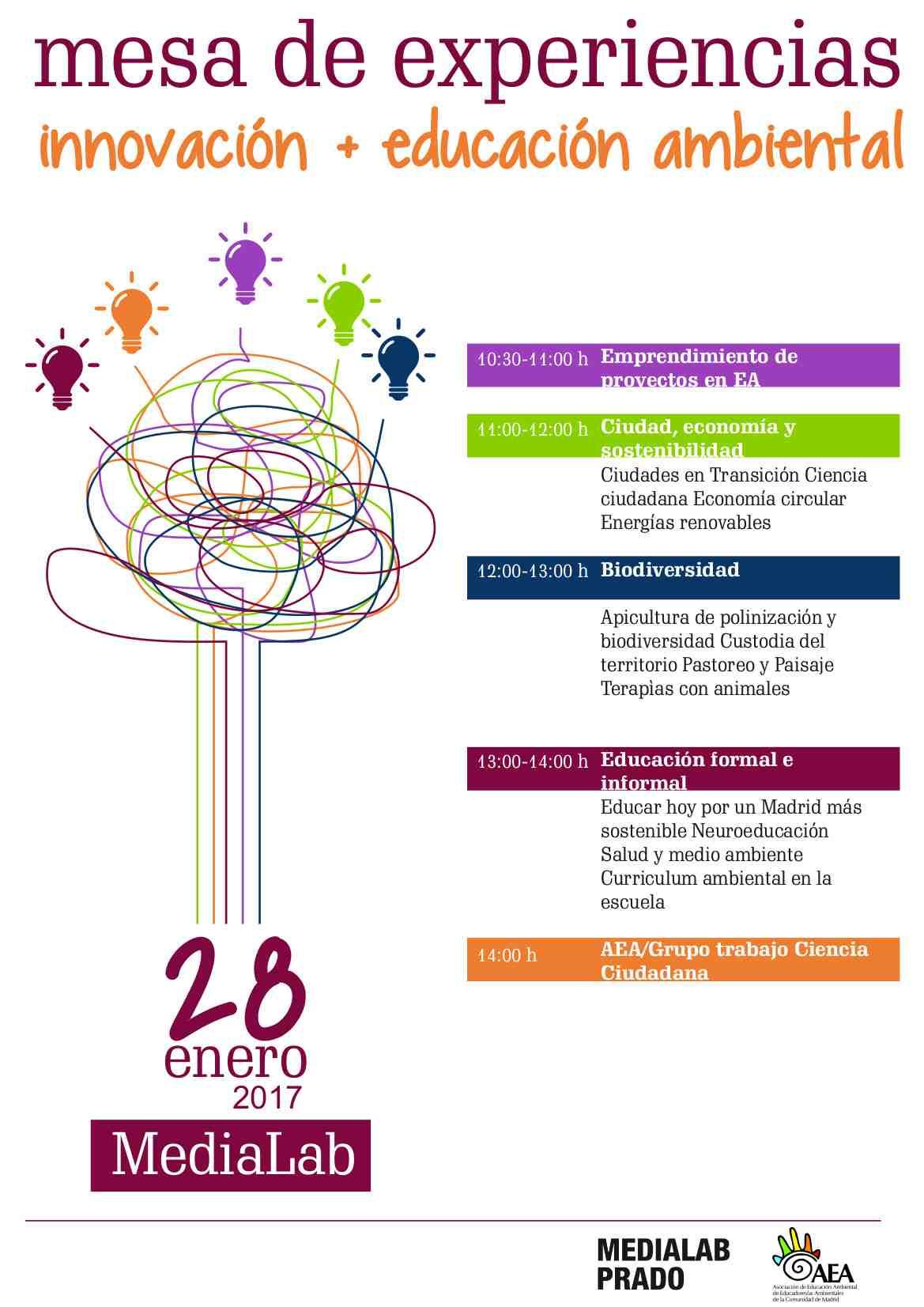 Mesa de experiencias innovación + educación ambiental AEA Madrid