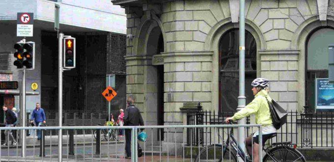 Ciclista en Dublín