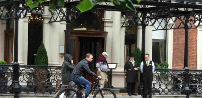 Ciclista en Dublín 2
