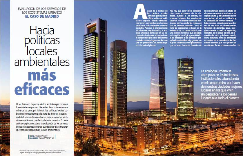 Evluación de los servicios de los ecosistemas urbanos. El caso de Madrid.