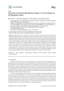 Towards an Urban Resilience Index: A Case Study in 50 Spanish Cities