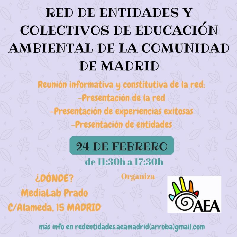 Jornada de presentación de la Red de entidades y colectivos de educación ambiental de la Comunidad de Madrid