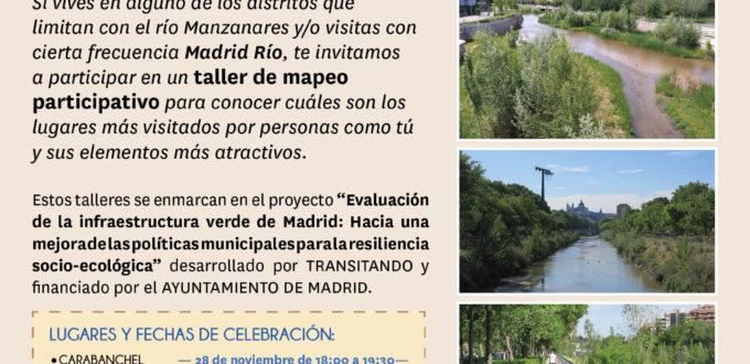 La renaturalización del río Manzanares: Talleres de mapeo participativo