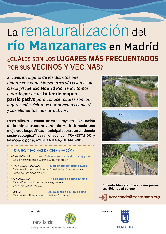 La renaturalización del río Manzanares en Madrid