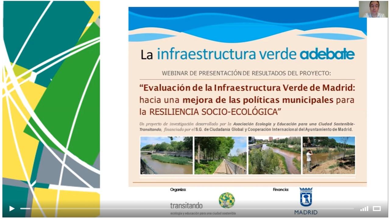 """Webinar """"La infraestructura verde a debate"""""""
